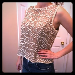 Vintage Adrianna Papell beaded top
